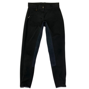 Ovation Euroweave DX Full Seat Breeches in Black
