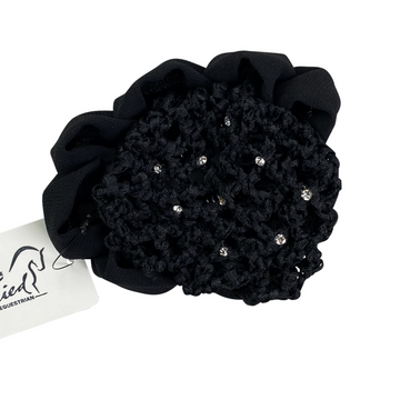 Hair Net Bun Cover in Black