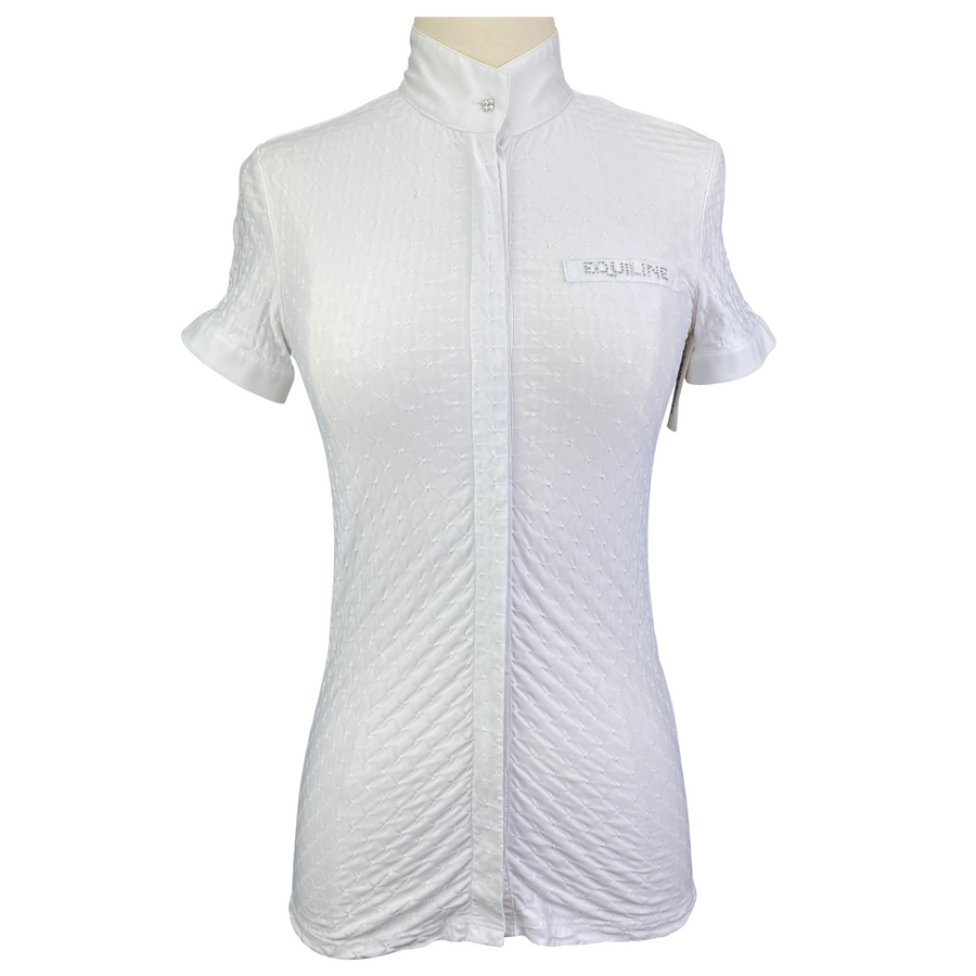 Equiline Short Sleeve Show Shirt in White - Women's IT 38 (US XS)