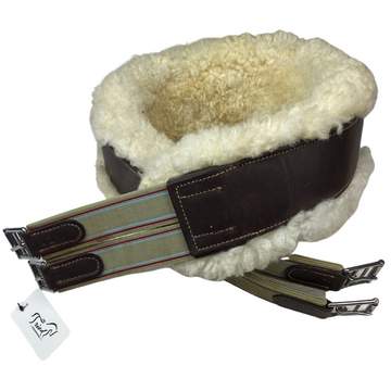 Marcel Toulouse Removable Sheepskin Shaped Girth in Brown - 52