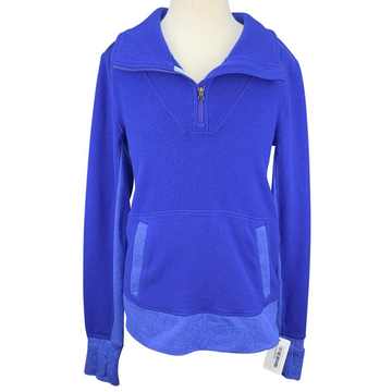 Ivivva Fleece 1/4 Zip Pullover in Royal Blue
