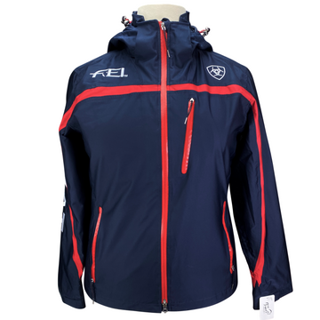 Ariat FEI Team II Waterproof Jacket in Navy/Red - Women's XL