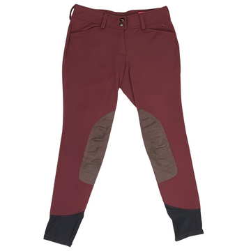 RJ Classics Gulf Front Zip Breeches in Burgundy