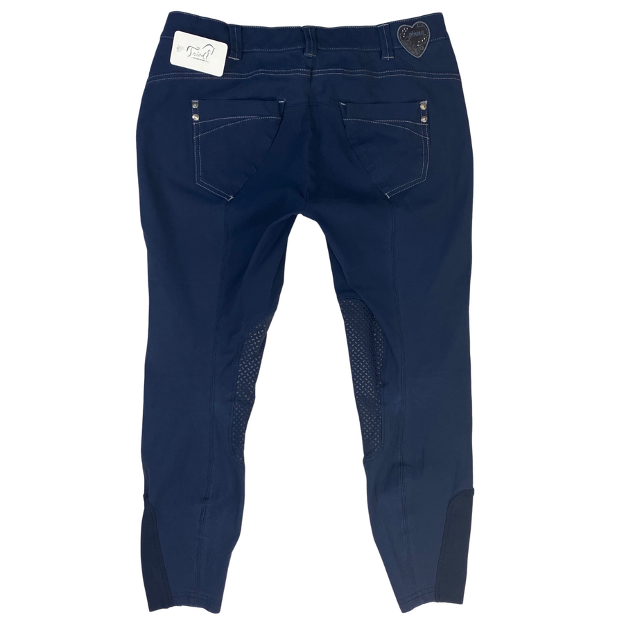 Back of Pikeur Acina Knee Grip Breeches in Navy