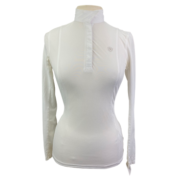 Ariat Pro Series Show Shirt in White - Women's XS