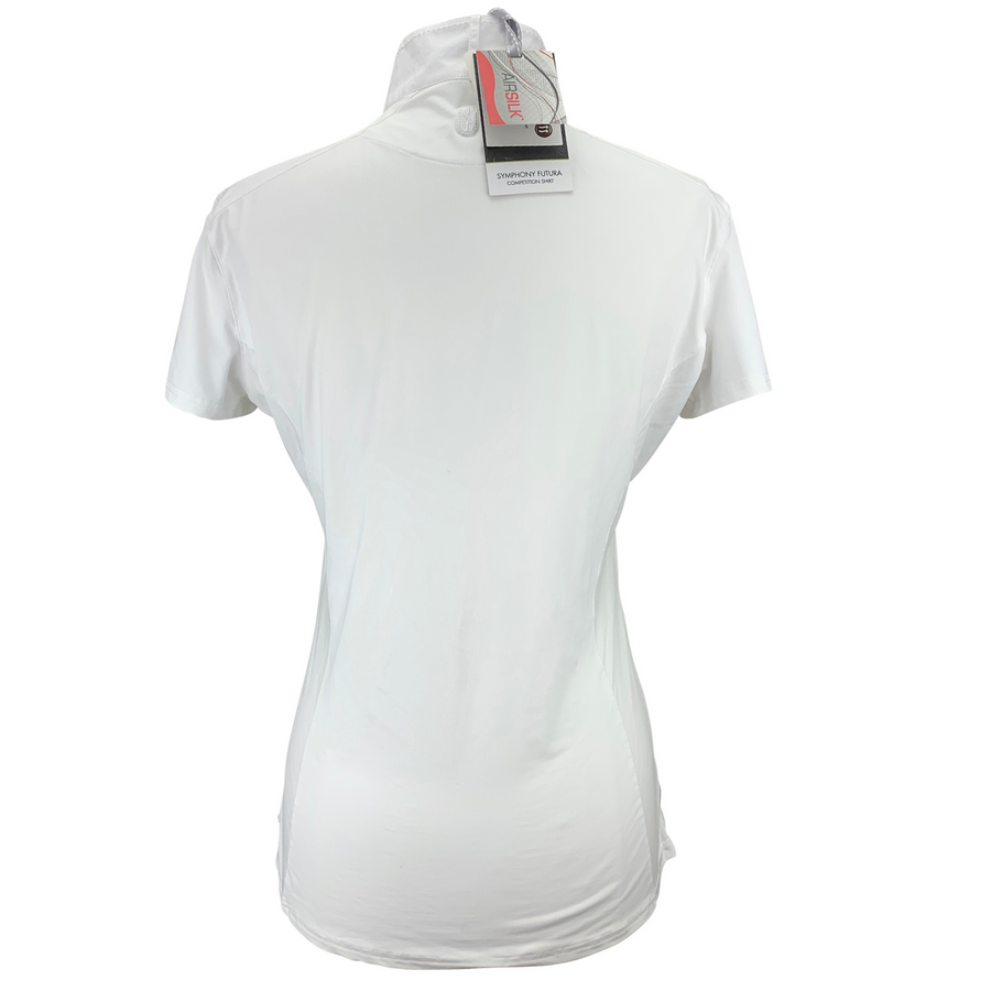Back of Tredstep Symphony Short Sleeve Show Shirt in White
