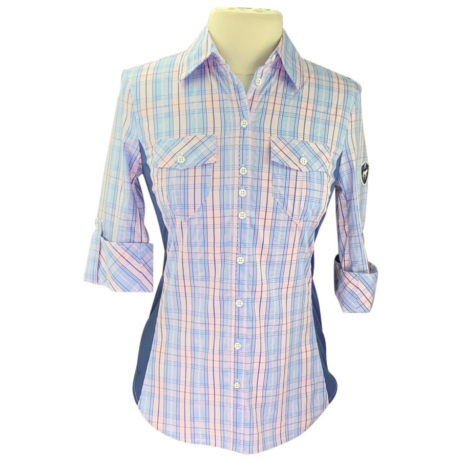 Goode Rider Perfect Shirt  in Blue Plaid