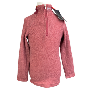 Horseware Fleece 1/4 Zip Top in Burgundy