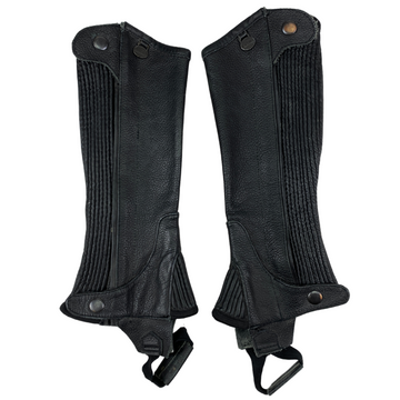 Ovation Leather Half Chaps in Black - Children's 8-10