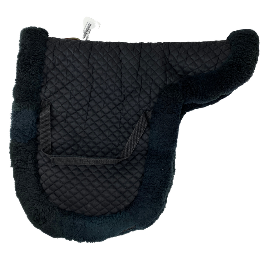 Fleeceworks Sheepskin Classic Dressage Pad in Black - Medium