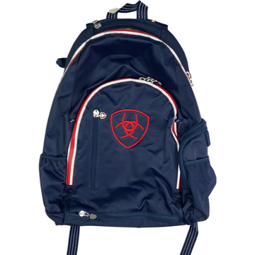 Ariat Ring Backpack in Navy/Red Accents - One Size