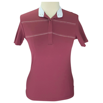 Animo Berez Short Sleeve Polo in Burgundy