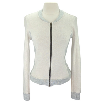 Two Bits Equestrian The Bomber in Oatmeal - Women's 1 (S/M)