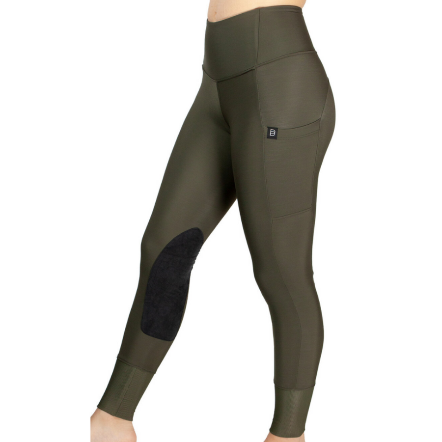 Botori 'G4 Fleece' Tights in Moss - Women's Large