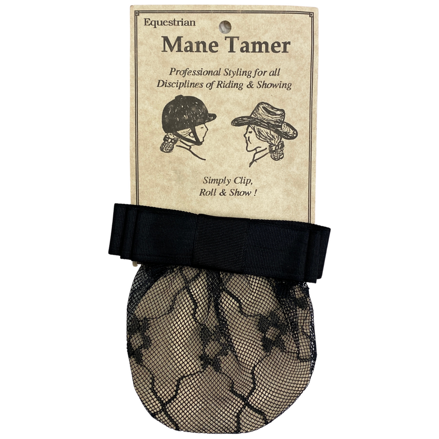Mane Tamer Hair Net in Black Lace - One Size