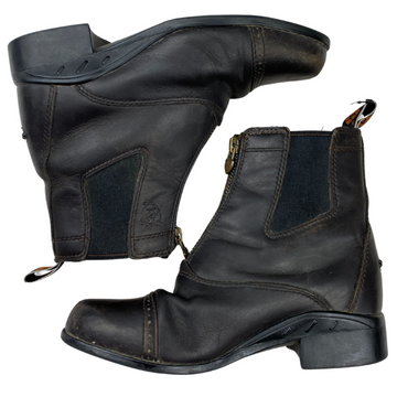 Ariat Devon Paddock Boots in Dark Brown - Children's 1C