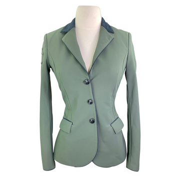 Cavalleria Toscana Competition Jacket in Green/Navy Trim