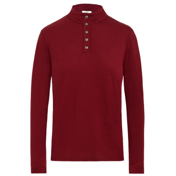 Callidae Long Sleeve Polo in Bloodstone