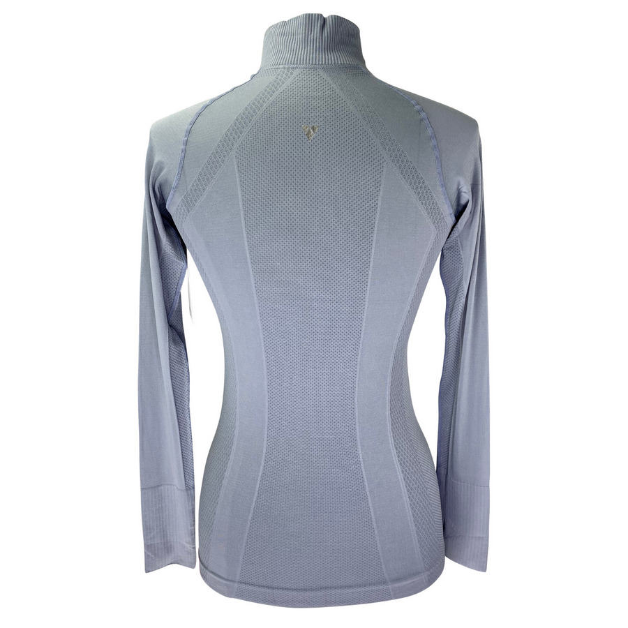 Back of Anique Signature Sun Shirt in Platinum Grey