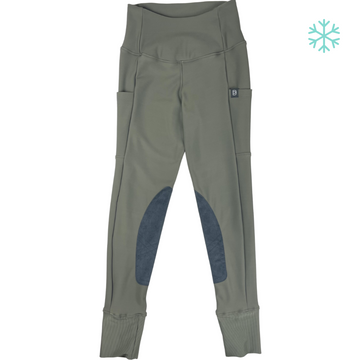 front of Botori 'G4 Fleece' Tights in Moss - Women's Small