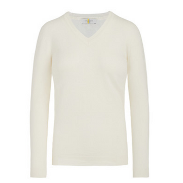 CALLIDAE The V Neck Sweater in Cream