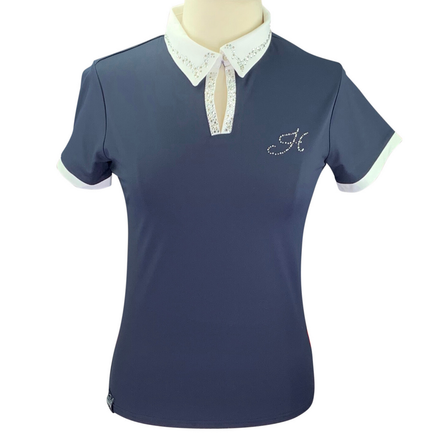 Harcour Equestrian Rosa Polo in Navy