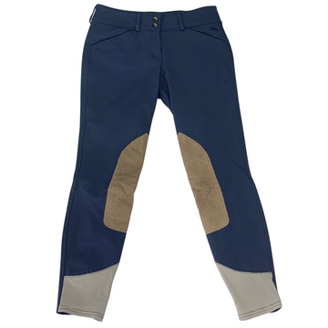 RJ Classics Gulf Front Zip Breeches in Navy
