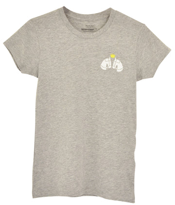 Huntsmen & Hounds Mini Royal Tee in Grey - Women's M