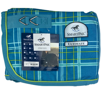 SmartPak Ultimate Turnout Sheet in Maui Blue Plaid