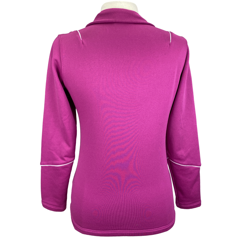 Back of Ariat Fleece Lined Top in Fuchsia - Women's Small