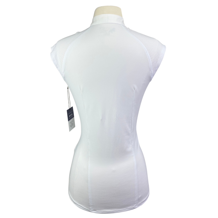 Back of Levade Clothier 'Jackie' Shirt in White - Women's Small