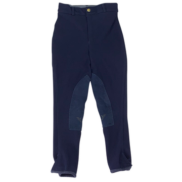 TuffRider Low Rise Ribb Breeches in Navy