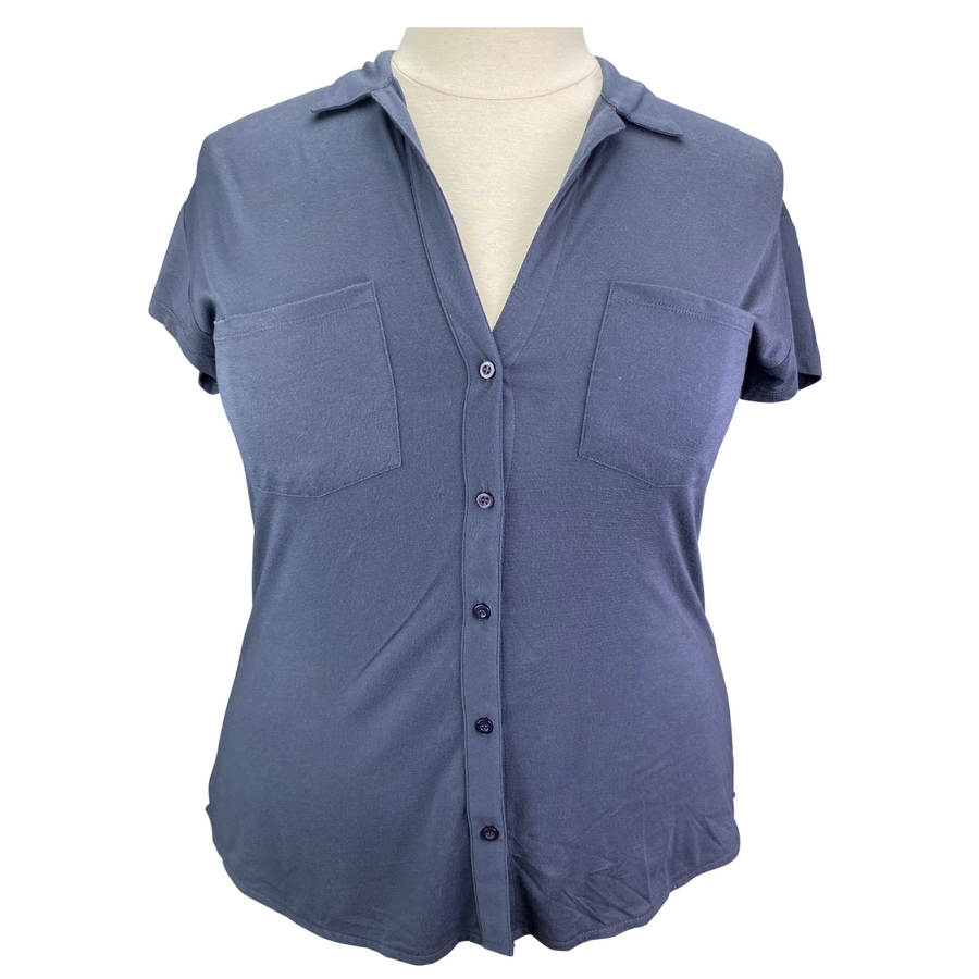 Survival Garland Button Top in Navy - Women's Large