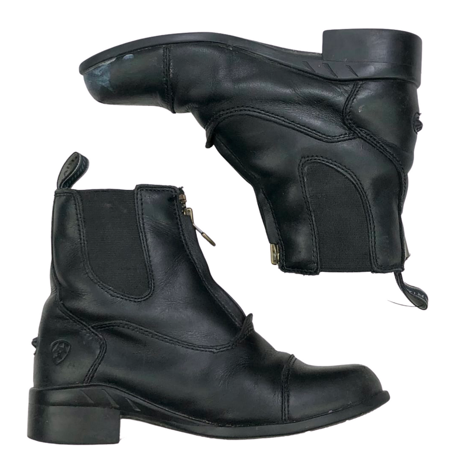 Side view of Ariat Devon IV Zip Paddock Boots in BlackSide view of Ariat Devon IV Zip Paddock Boots in Black