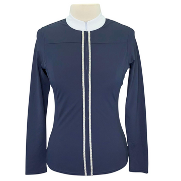 Cavallo Long Sleeved Competition Shirt in Navy