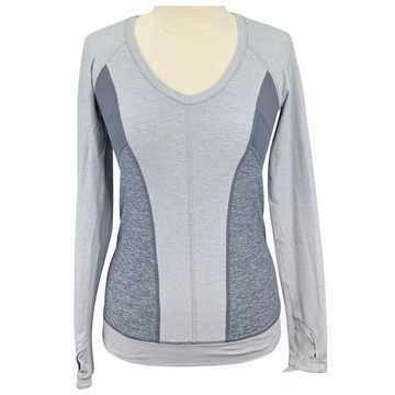 Lululemon Action Long Sleeve Shirt in Grey
