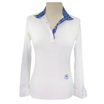 Essex Classics Show Shirt in White/Wine