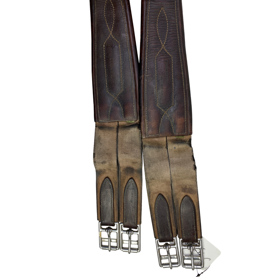 Buckles of Devoucoux Leather Girth in Brown