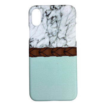 Spiced Equestrian Phone Case in Laced Mint - iPhone X