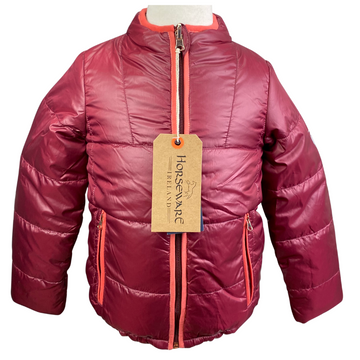 Horseware Reversible Padded Jacket in Burgundy/Pink