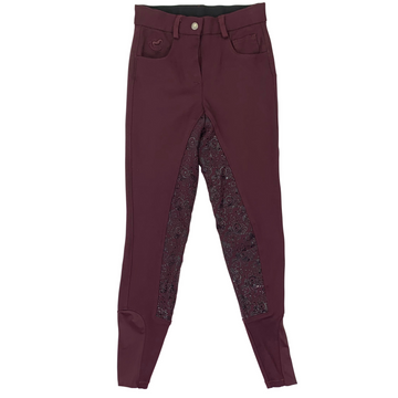 SmartPak Piper Full Seat Breeches in Burgundy