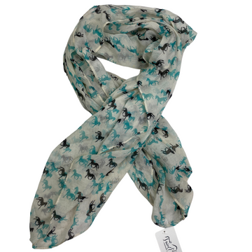 Infinity Scarf in Cream/Horses - One Size