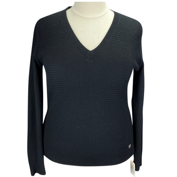 Asmar Equestrian V-Neck Sweater in Black - Women's Large