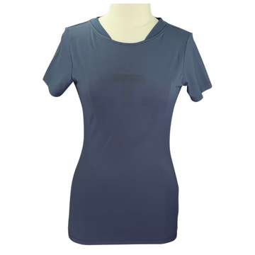 Cavalleria Toscana Techn Pique T-Shirt in Navy - Women's XL