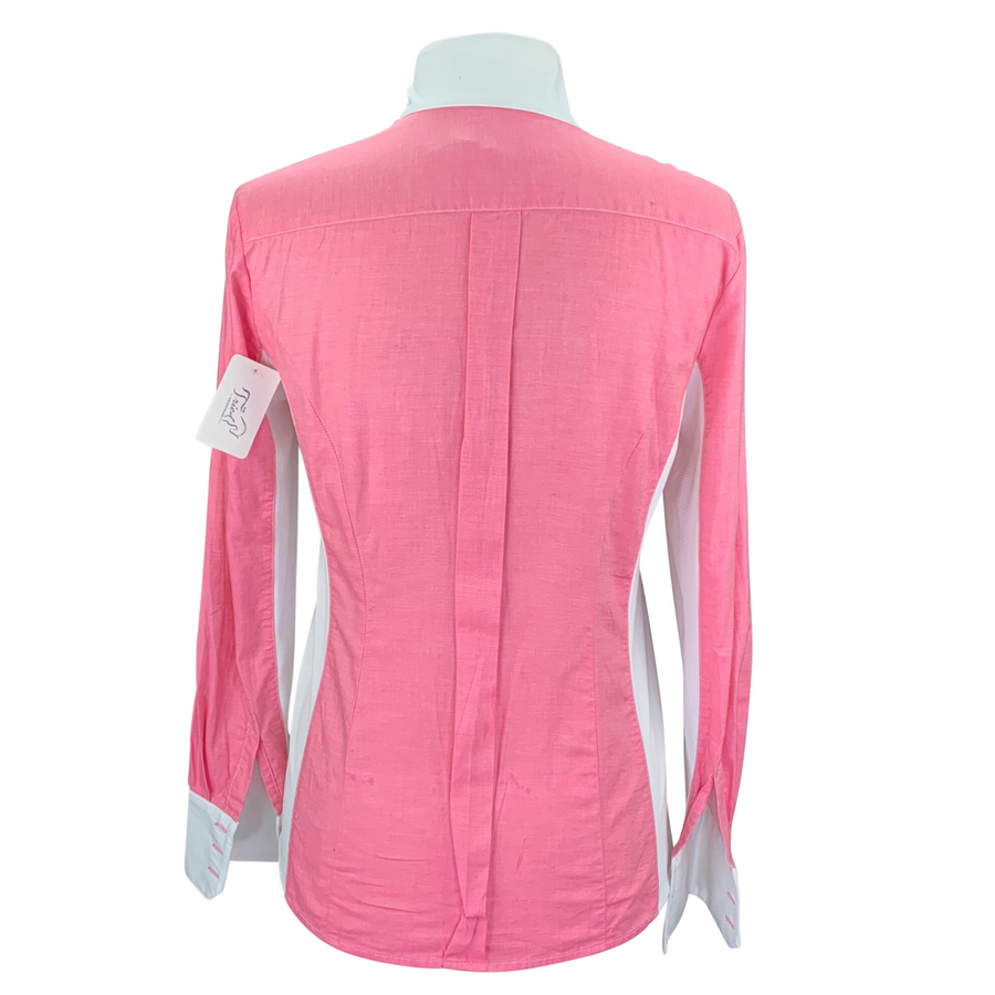 Asmar Equestrian Long Sleeve Shirt in Pink/White - Women's Small