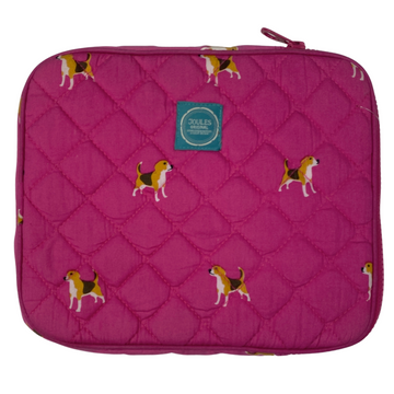Joules iPad Quilted Case in Pink Dog - One Size