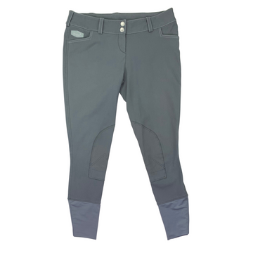 Winston Knee Patch Breeches in Grey