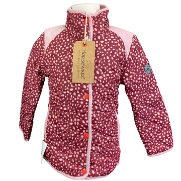 Horseware Quilted Jacket in Burgundy/Pink Speckles