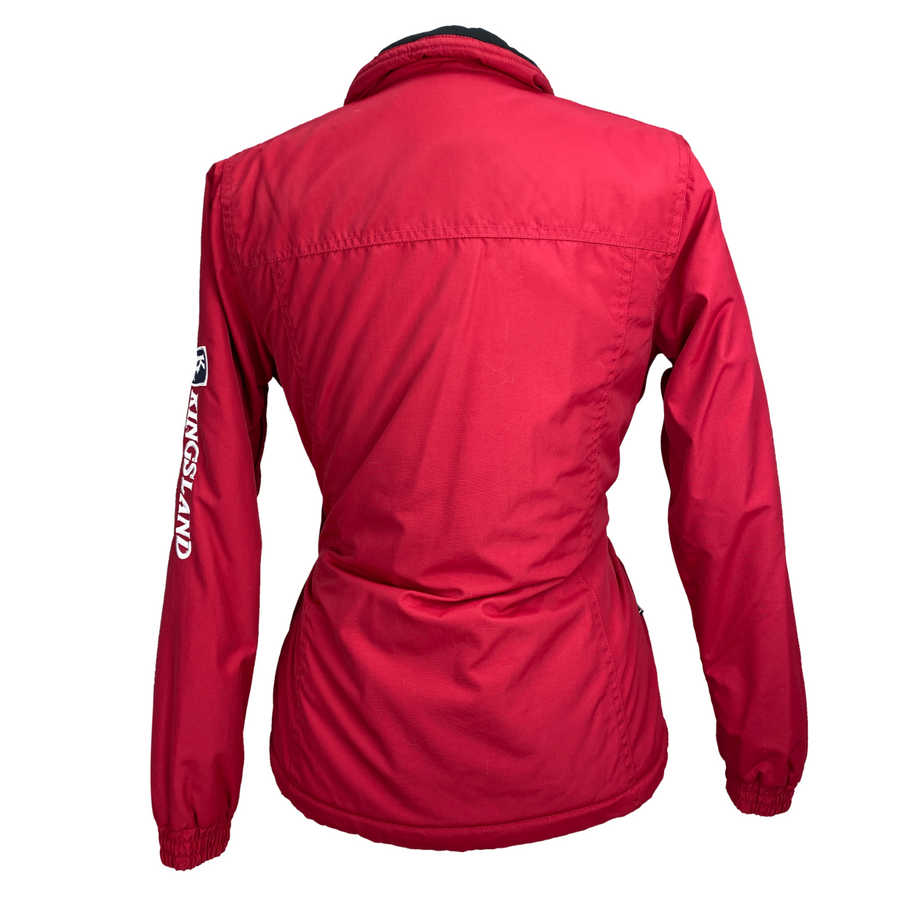 Back of Kingsland Classics Summer Bomber Jacket in Red
