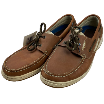 Front of Dubarry Boat Shoes in Chestnut